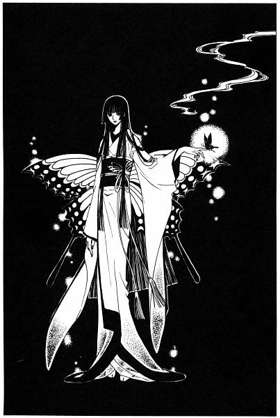 Tags: Anime, CLAMP, xxxHOLiC, Ichihara Yuuko, Mobile Wallpaper, Official Art