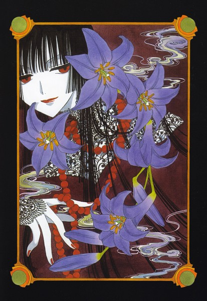 Tags: Anime, CLAMP, xxxHOLiC, Ichihara Yuuko, Scan, Mobile Wallpaper, Official Art