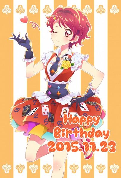 Tags: Anime, Pixiv Id 2494119, Aikatsu!, Ichinose Kaede, Purple Handwear, Purple Gloves, Pixiv, Fanart, Mobile Wallpaper, Fanart From Pixiv