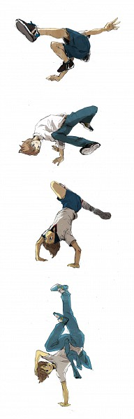 Tags: Anime, KZ, Inazuma Eleven, Ichinose Kazuya, Handstand, Fanart