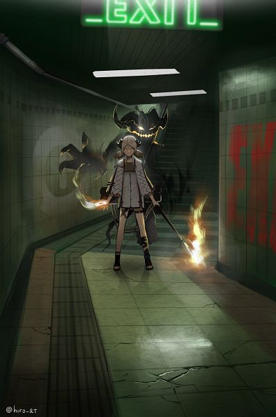 Tags: Anime, Pixiv Id 14994982, Arknights, Ifrit (Arknights), Pixiv, Arknights Battle Illustration Contest