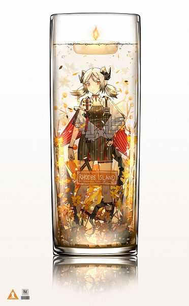 Tags: Anime, Pixiv Id 25295189, Arknights, Ifrit (Arknights), In a Bottle, In a Cup