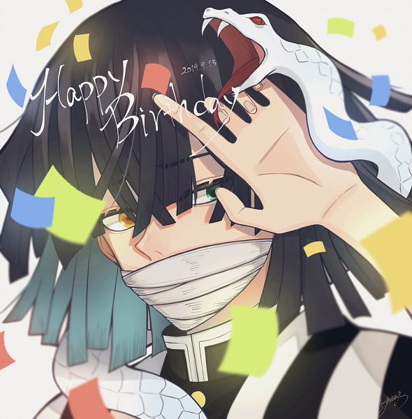 Tags: Anime, Pixiv Id 43444234, Kimetsu no Yaiba, Iguro Obanai, Reptile, Fanart, Fanart From Pixiv, Pixiv