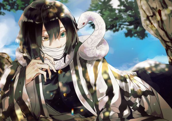 Tags: Anime, Pixiv Id 43053217, Kimetsu no Yaiba, Iguro Obanai, Reptile, Fanart, Fanart From Pixiv, Pixiv