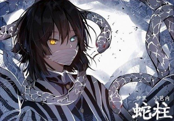 Tags: Anime, Kimetsu no Yaiba, Iguro Obanai, Reptile, Artist Request