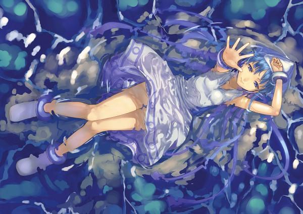 Tags: Anime, Mizore Akihiro, Shinryaku! Ikamusume, Ikamusume, Reaching Up, Pixiv, Fanart From Pixiv, Fanart, Squid Girl