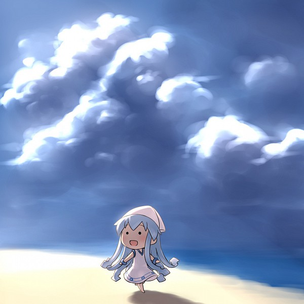 Tags: Anime, Pixiv Id 711048, Shinryaku! Ikamusume, Ikamusume, Mini-Ikamusume, Pixiv, Fanart, Fanart From Pixiv, Squid Girl