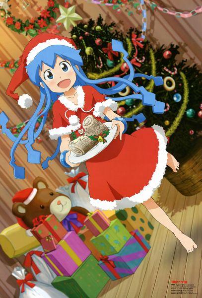Tags: Anime, Diomedéa, Shinryaku! Ikamusume, Newtype 2011-12, Ikamusume, Scan, Official Art, Squid Girl