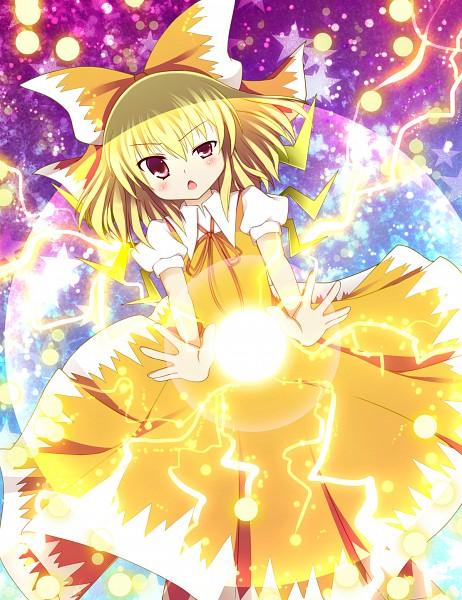 Tags: Anime, Fujisaki Kaon, Touhou, Ikazu Cirno, Cirno, Lightning Bolt (Symbol), Fanart