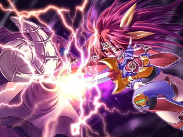 Tags: Anime, Ikazuchi no Senshi Raidy, Raidy, Knee Pads, Lightning Warrior Raidy