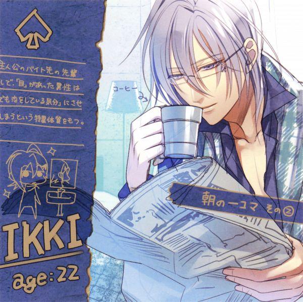 Tags: Anime, Hanamura Mai, IDEA FACTORY, AMNESIA, Ikki (AMNESIA), Journal, Spade (Card), Self Scanned, Scan, Official Art