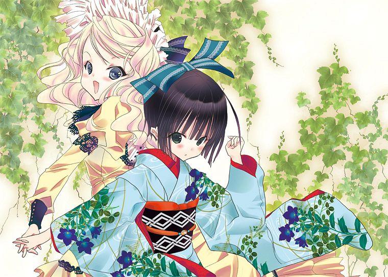 Tags: Anime, Ueda Kiku, Ikoku Meiro no Croisée, Alice Blanche, Yune (Ikoku Meiro no Croisee), Ikoku Meiro No Croisee - Official Website Illustrations