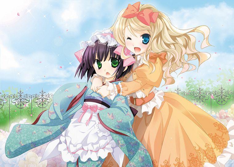 Tags: Anime, Mochizuki Nana, Ikoku Meiro no Croisée, Alice Blanche, Yune (Ikoku Meiro no Croisee), Ikoku Meiro No Croisee - Official Website Illustrations