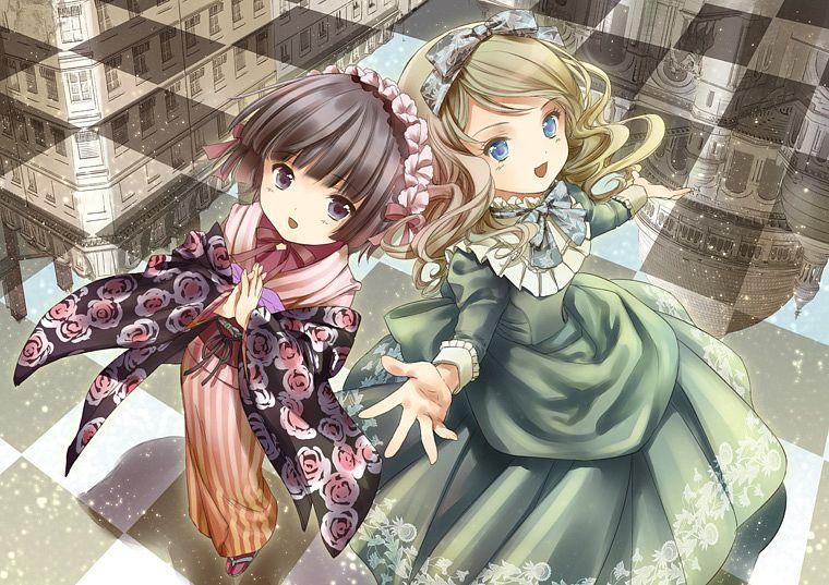 Tags: Anime, Amano Sakuya, Ikoku Meiro no Croisée, Yune (Ikoku Meiro no Croisee), Alice Blanche, Ikoku Meiro No Croisee - Official Website Illustrations