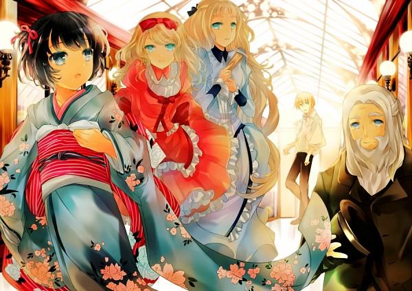 Tags: Anime, Kyatto-san, Ikoku Meiro no Croisée, Yune (Ikoku Meiro no Croisee), Camille Blanche, Claude Claudel, Oscar Claudel, Alice Blanche