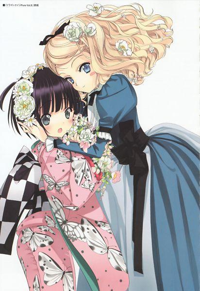 Tags: Anime, Ikoku Meiro no Croisée, Yune (Ikoku Meiro no Croisee), Alice Blanche, Official Art, Mobile Wallpaper