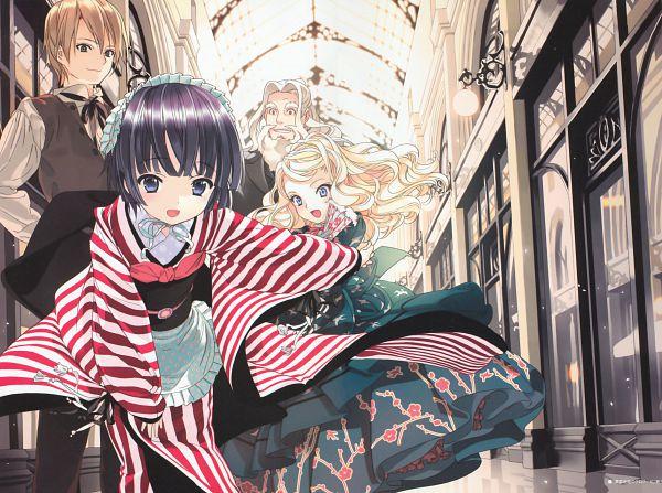 Tags: Anime, Takeda Hinata, Ikoku Meiro no Croisée, Alice Blanche, Yune (Ikoku Meiro no Croisee), Claude Claudel, Oscar Claudel, Official Art