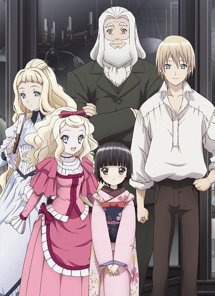 Tags: Anime, Ikoku Meiro no Croisée, Camille Blanche, Claude Claudel, Oscar Claudel, Alice Blanche, Yune (Ikoku Meiro no Croisee), Official Art, Mobile Wallpaper