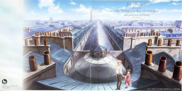 Tags: Anime, Ikoku Meiro no Croisée, Yune (Ikoku Meiro no Croisee), Claude Claudel, Wallpaper, CD (Source), Official Art