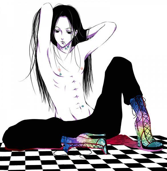 Tags: Anime, Pixiv Id 2855622, Hunter x Hunter, Illumi Zoldyk, Nipple Piercing, Pins, Fanart, Pixiv