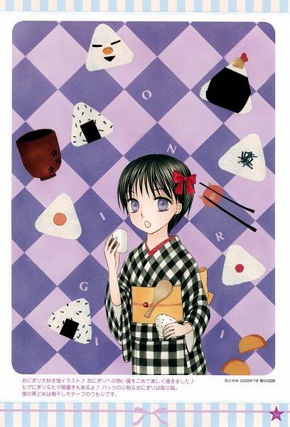 Tags: Anime, Higuchi Tachibana, Gakuen Alice, Imai Hotaru, Onigiri, Official Art, Scan