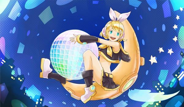 Tags: Anime, Momopanda, VOCALOID, Kagamine Rin, Disco Ball, Imitation Disco, Pixiv