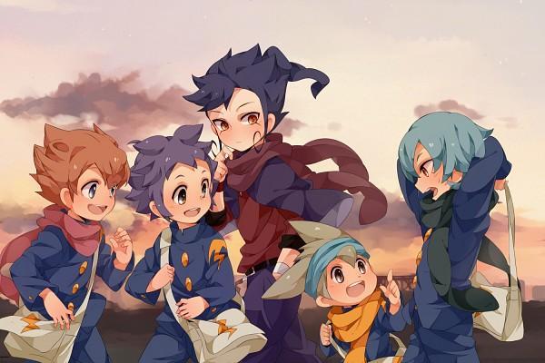 Tags: Anime, Umiko (munemiu), Level-5, Inazuma Eleven GO, Inazuma Eleven, Nishizono Shinsuke, Tsurugi Kyousuke, Kageyama Hikaru, Matsukaze Tenma, Kariya Masaki, InaGO Ichinensei Gumi, Inago First Year Group