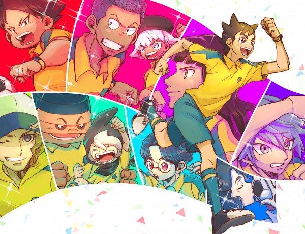 Tags: Anime, Pixiv Id 23777129, Inazuma Eleven: Ares no Tenbin, Inamori Asuto, Okuiri Hiro, Mansaku Yuuichirou, Hiyori Masakatsu, Hiura Kirina, Goujin Tetsunosuke, Umihara Norika, Iwato Takashi, Kozoumaru Sasuke, Michinari Tatsumi