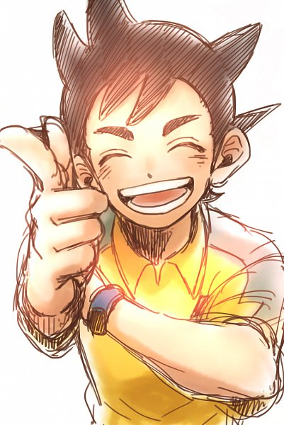 Tags: Anime, Pixiv Id 23777129, Inazuma Eleven: Ares no Tenbin, Inamori Asuto, Gun Gesture, Inakuni Raimon Uniform, Pixiv, Fanart, Fanart From Pixiv, Sonny Wright