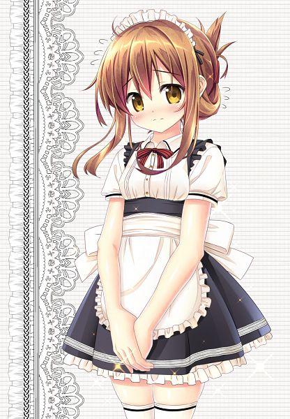 Tags: Anime, Akizuki Tsukasa, Kantai Collection, Inazuma (Kantai Collection), PNG Conversion, Mobile Wallpaper