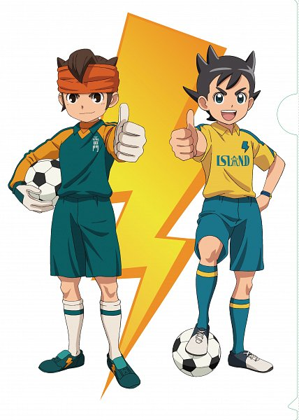 Tags: Anime, Level-5, Oriental Light and Magic, Inazuma Eleven: Ares no Tenbin, Inazuma Eleven, Inamori Asuto, Endou Mamoru, Inakuni Raimon Uniform, Official Art, Inazuma Eleven Balance Of Ares