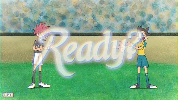 Tags: Anime, Pixiv Id 1068200, Inazuma Eleven: Ares no Tenbin, Nosaka Yuuma, Inamori Asuto, Inakuni Raimon Uniform, Gray Legwear, Outei Tsukinomiya Uniform, Gun Gesture, Cuphead (Parody), Wallpaper, Fanart, Fanart From Pixiv, Inazuma Eleven Balance Of Ares