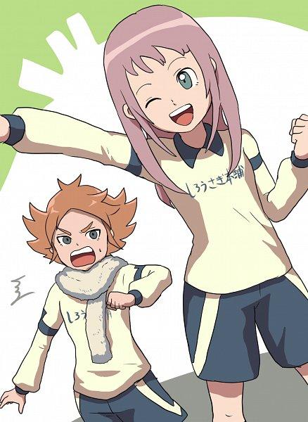 Tags: Anime, Pixiv Id 3016643, Inazuma Eleven, Inazuma Eleven: Ares no Tenbin, Fubuki Atsuya, Shiratoya Nae, Hakuren (Ares) Uniform, Pixiv, Fanart, Fanart From Pixiv, Inazuma Eleven Balance Of Ares