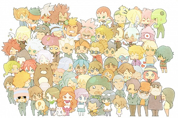 Tags: Anime, hakusai, Inazuma Eleven, Inazuma Eleven GO, Matsuno Kuusuke, Sain (Inazuma Eleven), Saginuma Osamu, Afuro Terumi, Fidio Aldena, Gouenji Shuuya, Urabe Rika, Domon Asuka, Kageno Jin