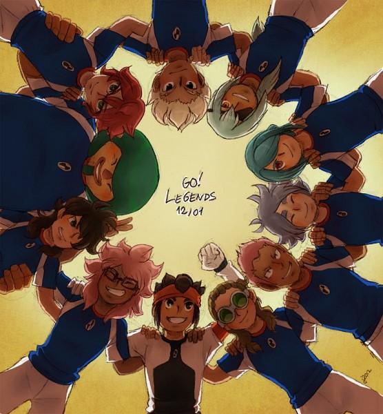 Tags: Anime, Inazuma Eleven GO Vs Danball Senki W, Inazuma Eleven, Inazuma Eleven GO, Tsunami Jousuke, Kazemaru Ichirouta, Fudou Akio, Sakuma Jirou, Endou Mamoru, Kabeyama Heigorou, Kiyama Hiroto, Kidou Yuuto, Someoka Ryuugo