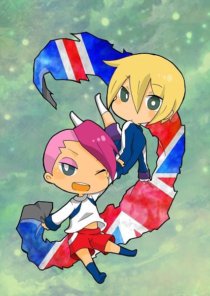 Tags: Anime, Pixiv Id 1330874, Inazuma Eleven, Gareth Barett, Gary Links, Knights Of Queen Uniform, Undercut, Fanart From Pixiv, Pixiv, Fanart, Knights of Queen