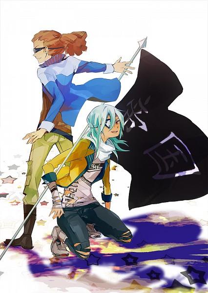 Tags: Anime, Donguri-usagi, Inazuma Eleven, Kidou Yuuto, Sakuma Jirou, Fanart From Pixiv, Pixiv, Fanart