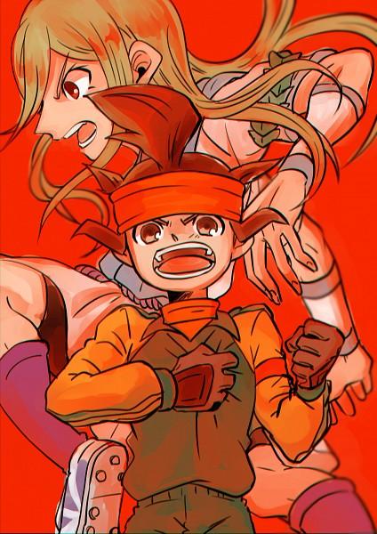 Tags: Anime, Pixiv Id 23777129, Inazuma Eleven, Afuro Terumi, Endou Mamoru, Zeus Uniform, Pixiv, PNG Conversion, Fanart, Fanart From Pixiv