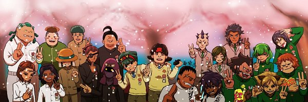 Tags: Anime, Pixiv Id 3438573, Inazuma Eleven, Hepai En, Tsukimura Kenichi, Sangou Baku, Momochi Santa, Shishiou Kou, Nanzan Yowami, Furan Ken, Sugimori Takeshi, Hebimaru Shouma, Shiotani Hiro