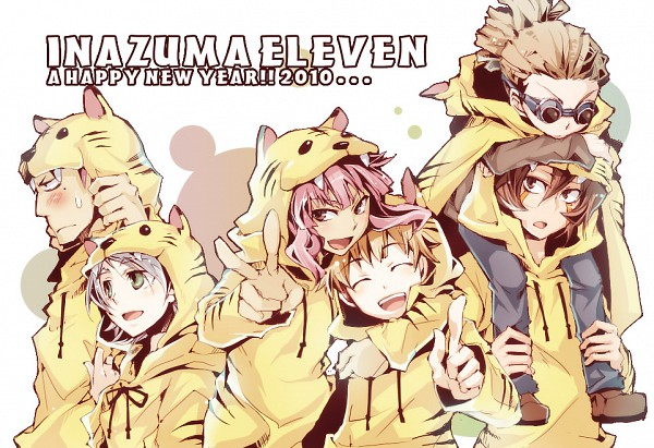 Tags: Anime, Nikeneko, Level-5, Inazuma Eleven, Kidou Yuuto, Tsunami Jousuke, Genda Koujirou, Someoka Ryuugo, Tachimukai Yuuki, Fubuki Shirou, Tiger Outfit, Fanart