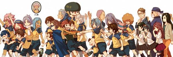 Tags: Anime, Inazuma Eleven, Gouenji Shuuya, Kabeyama Heigorou, Sakichi Shishido, Kazemaru Ichirouta, Matsuno Kuusuke, Kira Hitomiko, Tsunami Jousuke, Domon Asuka, Hibiki Seigou, Endou Mamoru, Raimon Natsumi