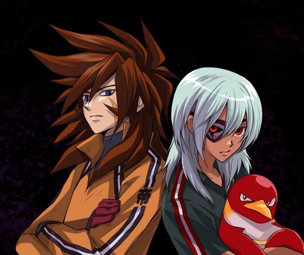 Tags: Anime, Level-5, Inazuma Eleven, Genda Koujirou, Sakuma Jirou, Side by Side, Shin Teikoku Uniform, Scar Across Eye, Fanart