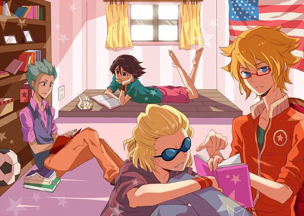 Tags: Anime, Ge (Pixiv Id 953838), Level-5, Inazuma Eleven, Mark Kruger, Dylan Keith, Domon Asuka, Ichinose Kazuya, Pixiv, Fanart, Unicorn (Inazuma Eleven)