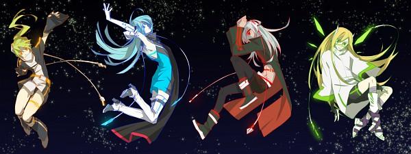 Tags: Anime, Kiu (Mangaka), Level-5, Inazuma Eleven, Kazemaru Ichirouta, Midorikawa Ryuuji, Sakuma Jirou, Afuro Terumi, Dark Emperors Uniform, Facebook Cover, Dark Emperors