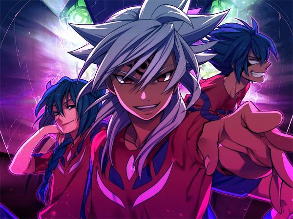 Tags: Anime, Himaki, Level-5, Inazuma Eleven, Esca Bamel, Badarp Slead, Mistorene Callus, Team Ogre