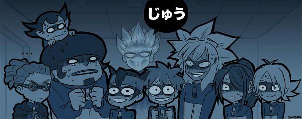 Tags: Anime, Chancake, Pixiv Id 525194, Level-5, Inazuma Eleven, Gouenji Shuuya, Endou Mamoru, Tsunami Jousuke, Kudou Fuyuka, Fubuki Shirou, Kabeyama Heigorou, Tachimukai Yuuki, Kazemaru Ichirouta
