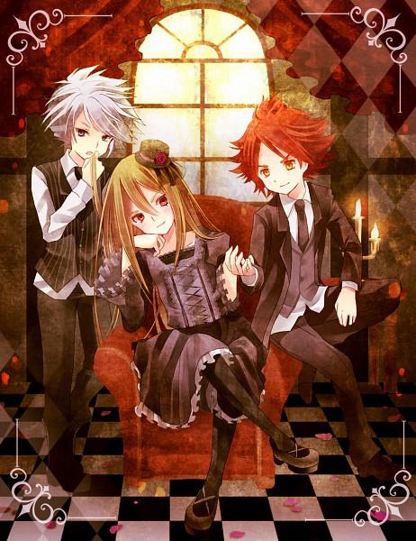 Tags: Anime, Inazuma Eleven, Suzuno Fuusuke, Nagumo Haruya, Afuro Terumi, Artist Request, IMITATION BLACK, Kami to Uchuu