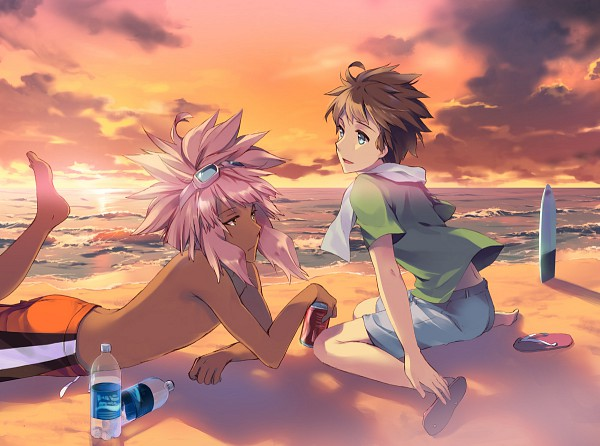 Tags: Anime, Tousaki Umiko, Inazuma Eleven, Tachimukai Yuuki, Tsunami Jousuke, Pixiv, Fanart