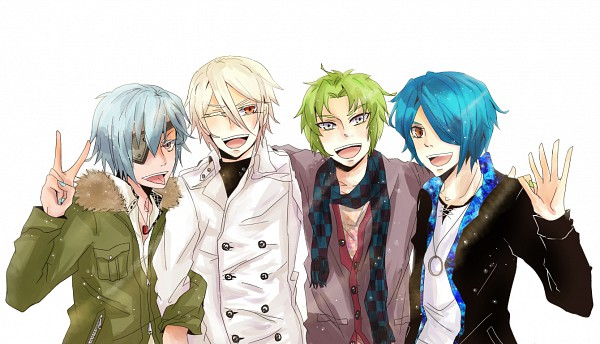Tags: Anime, Pixiv Id 1124667, Level-5, Inazuma Eleven, Kazemaru Ichirouta, Midorikawa Ryuuji, Sakuma Jirou, Afuro Terumi, Pixiv