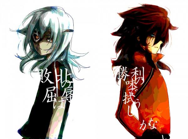 Tags: Anime, Level-5, Inazuma Eleven, Genda Koujirou, Sakuma Jirou, Shin Teikoku Uniform, Scar Across Eye, Fanart